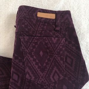 Sanctuary denim Aztec print skinny jeans purple 27